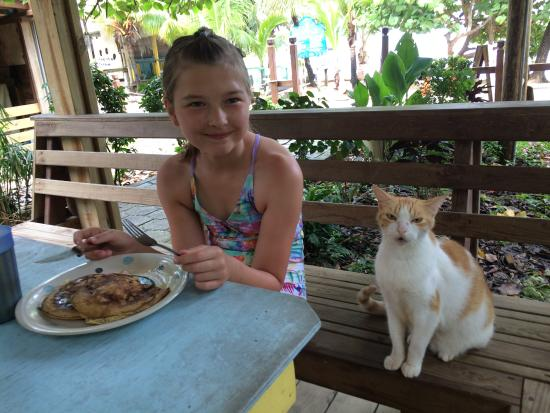 Hotel Chillies: banana pancakes with company