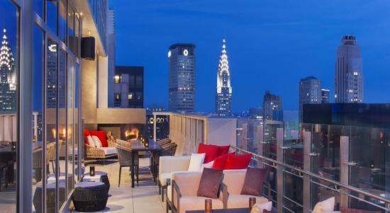 outdoor terrace bar 54 best view in nyc image taken from hyatt rh tripadvisor com