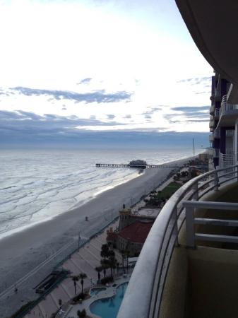 Wyndham Ocean Walk Looking Towards Daytona Beach Pier And Crabby Joe S Restaurant