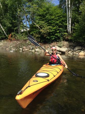 Wilmington, VT: Diane relaxing on Harriman Reservoir!