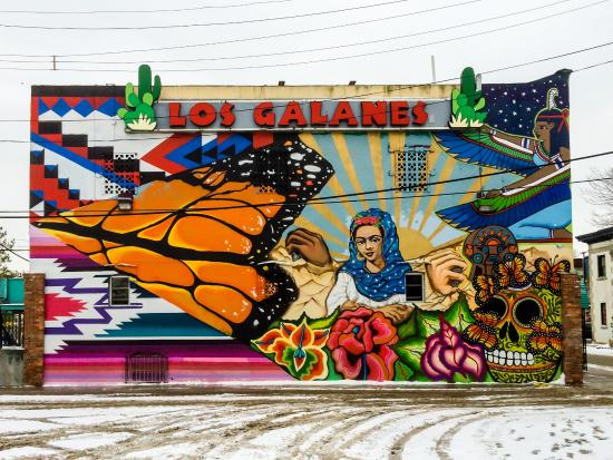 Mexicantown: Mural with Mexican Motifs