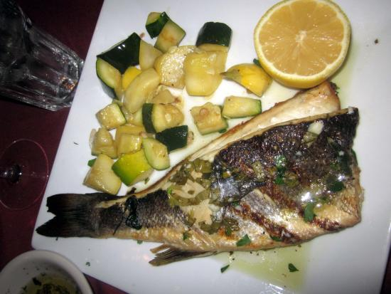 Newtown, PA: Grilled Bronzino, French-style
