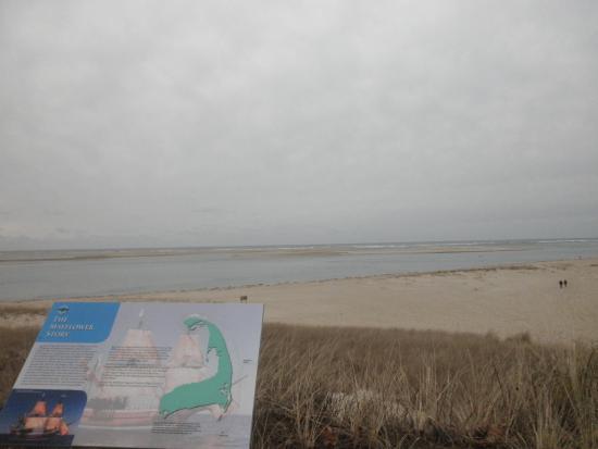 Chatham Lighthouse Beach : 駐車場より眼下にビーチが広がる