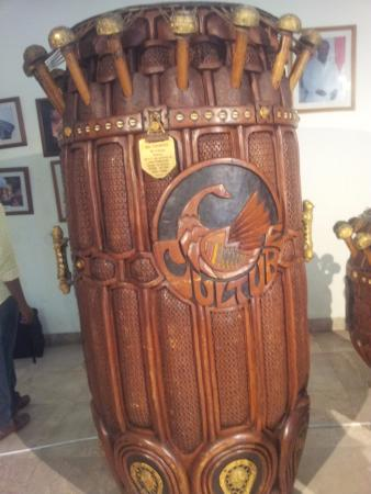 The National Theatre of Ghana : the National Fontonfrom drum at the National Theatre