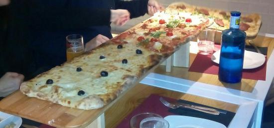 Kilómetros de Pizza Las Tablas