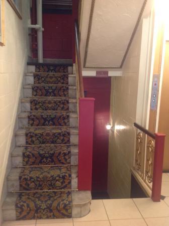 Milner Hotel: Escadaria