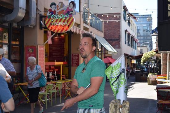 Jake In Post Alley Picture Of Seattle Free Walking Tours Tripadvisor