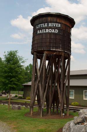The Little River Railroad and Lumber Company Museum: Water tower.