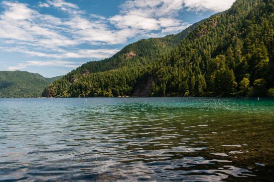 Marymere Falls Trail : Begining of Trai Passes Crescent Lake