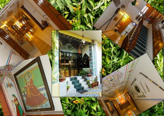 Sunder Palace Guest House: Murals and antiques