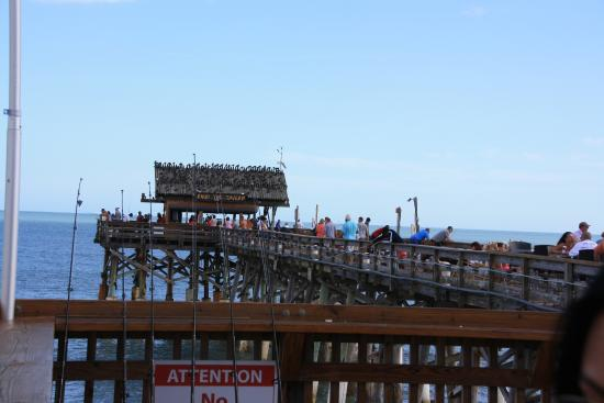 View of the end of the pier picture of cocoa beach pier for Cocoa beach fishing pier
