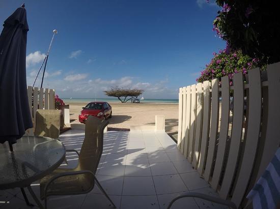 Malmok Beach, Aruba: Varanda de um dos apartamento