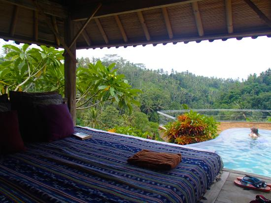 ‪‪Tirta Asri Ubud‬: day bed view‬
