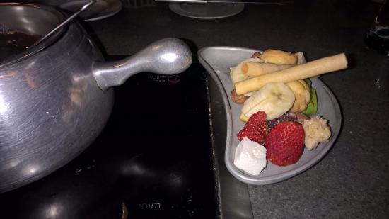 Saratoga, Californie : chocolate fondue items