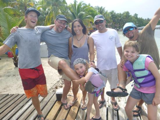 Glovers Reef Atoll, Belice: Slickrock family at Long Caye Resort