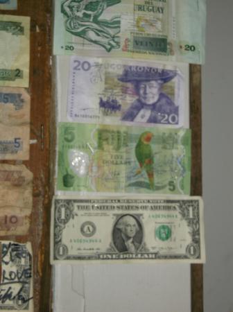 Leigh, Nueva Zelanda: Quirky overseas currency post.