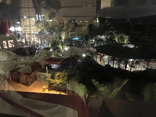 Legoland Malaysia Resort: The theme park at night, view from our room.
