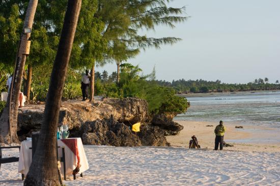 The Residence Zanzibar: locaux sur la plage