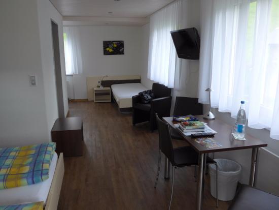 Ferien- und Familienhotel Alpina: Das Zimmer hat fast rundum Fenster