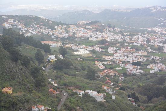 Valleseco, Spagna: udsigten fra restauranten