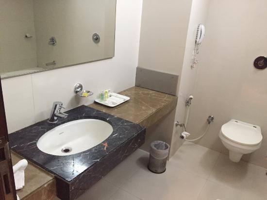 Hotel Kiranshree Portico: Bathroom