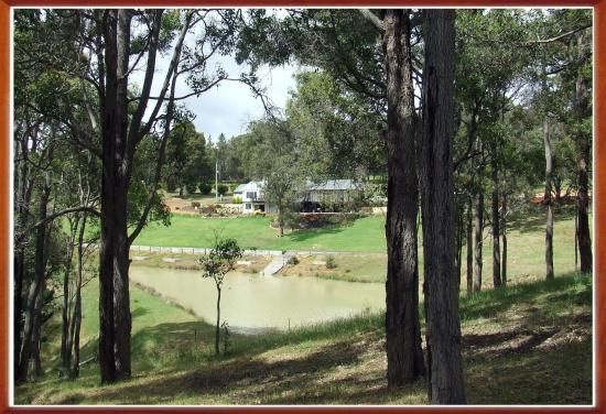 Nannup, Avustralya: View from Jarrahwood Spa Cottage to Lodge