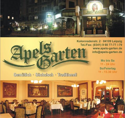Apels Garten Leipzig Menu Preise Restaurant Bewertungen Tripadvisor