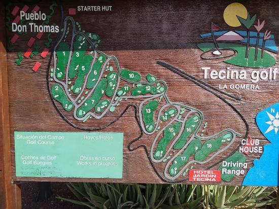 Tecina Golf: Схема полей около входа.