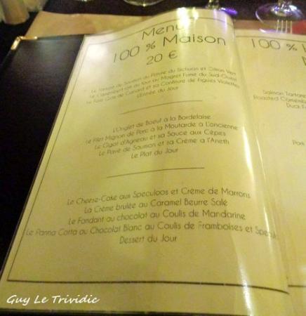Carte Restaurant Bordeaux.La Carte Picture Of Restaurant Melodie Bordeaux