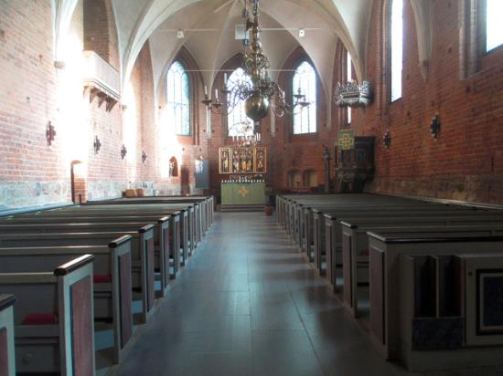 Sankt Peter's monastery church in Lund seen from the inside