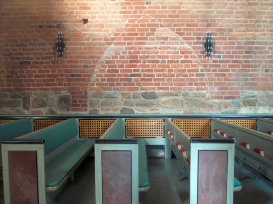 Лунд, Швеция: Sign in the wall from the nun's bacony