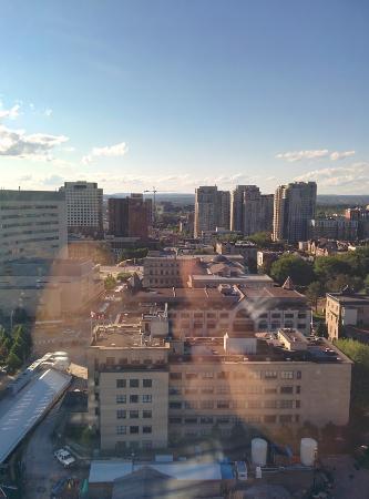 University of Ottawa: Vista da universidade a partir da janela do hotel dentro dela