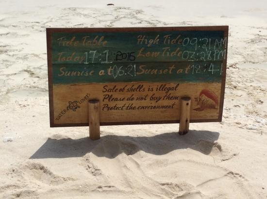 Waterlovers Beach Resort: Tide info