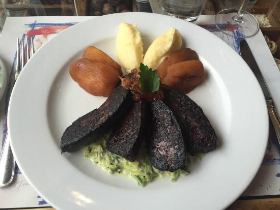 Boudin noir pommes pur e de pommes de terre et confiture for Ambiance cuisine geneve
