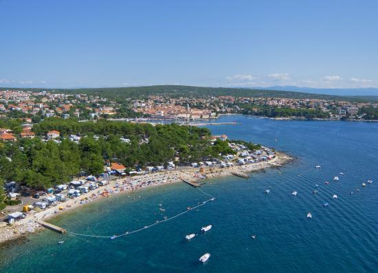 Krk, Kroatia: Ježevac from air