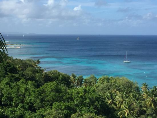 Mustique: Terrace View over Britannia Bay