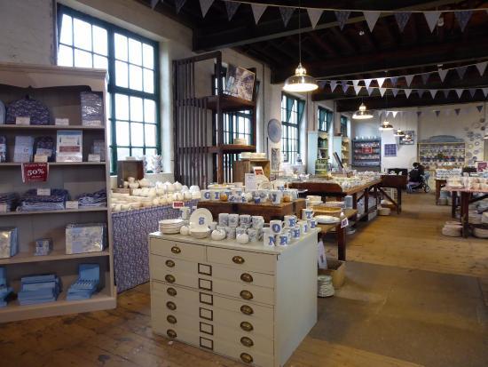 Burslem, UK: Burleigh pottery factory shop