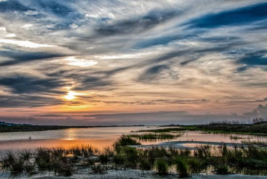Fripp Island, SC: Beautiful marsh sunset