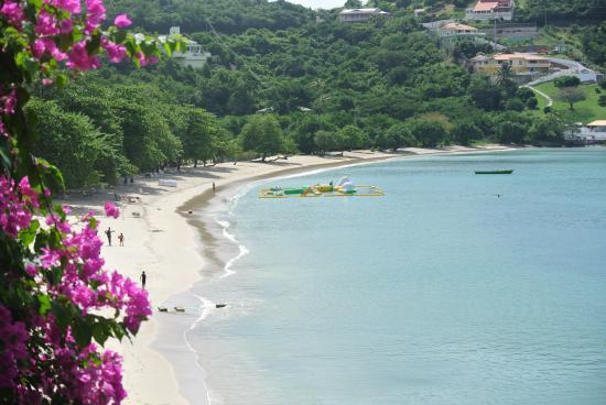 Saint George Parish, Grenada: The beach, taken from terrace of apartment
