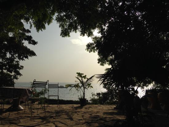 Oceanium Dakar : Vue depuis la cour pendant le petit-déjeuner