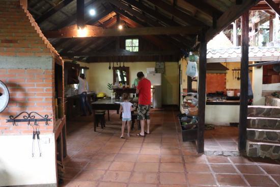 Open air kitchen area