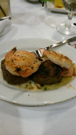 Ruth's Chris Steak House: 2 4oz filet mignon and shrimp