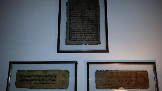 Hotel Dar-Es-Salam: Quranic parchments