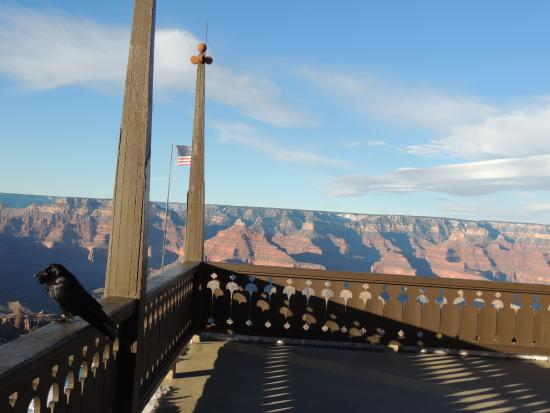 View From The Balcony Picture Of El Tovar Hotel Grand Canyon National Park Tripadvisor