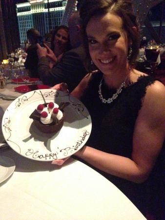 Amazing Birthday Cake Picture Of Eiffel Tower Restaurant At Paris Las Birthday Cards Printable Giouspongecafe Filternl