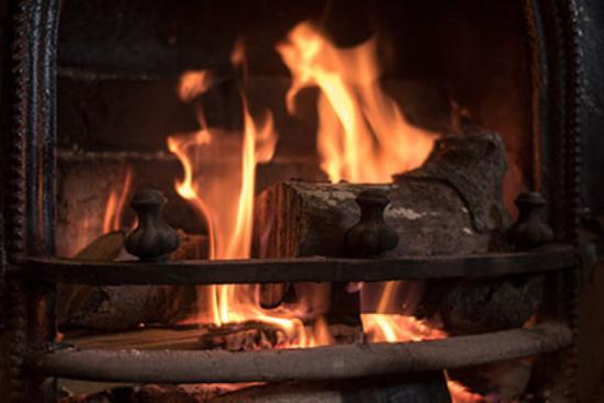 Real log fire at Lanercost B&B