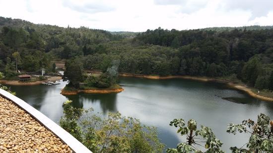 Santa Elena, Колумбия: Vista desde la terraza que cuenta con sillas y mesas atendidas por el personal del Bar
