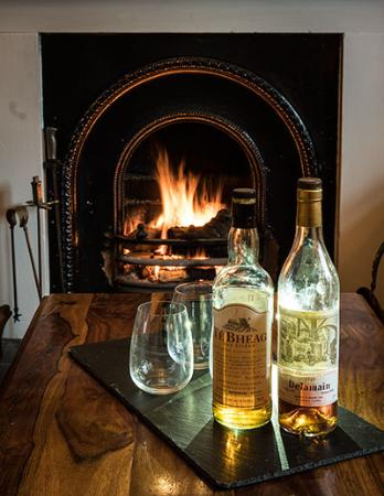 Drinks by the fire at Lanercost B&B