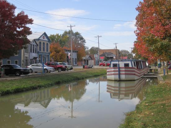 Connersville, IN: At the other end of the Fall Colors Train-Metamora, an old canal town