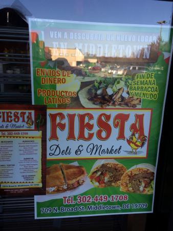 Middletown, DE: Fiesta Deli & market signage